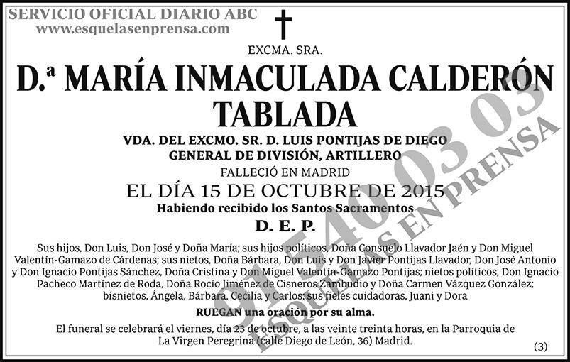 María Inmaculada Calderón Tablada